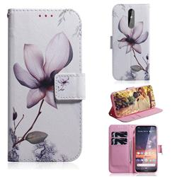 Magnolia Flower PU Leather Wallet Case for Nokia 3.2