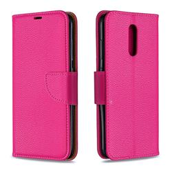 Classic Luxury Litchi Leather Phone Wallet Case for Nokia 3.2 - Rose