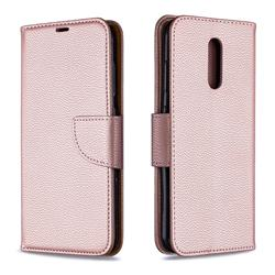 Classic Luxury Litchi Leather Phone Wallet Case for Nokia 3.2 - Golden