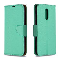 Classic Luxury Litchi Leather Phone Wallet Case for Nokia 3.2 - Green