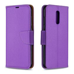 Classic Luxury Litchi Leather Phone Wallet Case for Nokia 3.2 - Purple