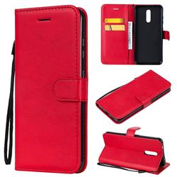 Retro Greek Classic Smooth PU Leather Wallet Phone Case for Nokia 3.2 - Red