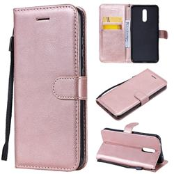 Retro Greek Classic Smooth PU Leather Wallet Phone Case for Nokia 3.2 - Rose Gold