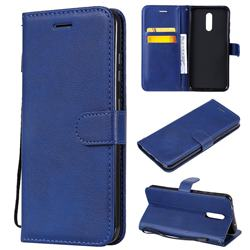 Retro Greek Classic Smooth PU Leather Wallet Phone Case for Nokia 3.2 - Blue