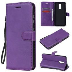 Retro Greek Classic Smooth PU Leather Wallet Phone Case for Nokia 3.2 - Purple