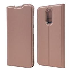 Ultra Slim Card Magnetic Automatic Suction Leather Wallet Case for Nokia 3.2 - Rose Gold