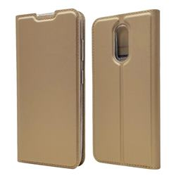 Ultra Slim Card Magnetic Automatic Suction Leather Wallet Case for Nokia 3.2 - Champagne