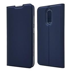 Ultra Slim Card Magnetic Automatic Suction Leather Wallet Case for Nokia 3.2 - Royal Blue