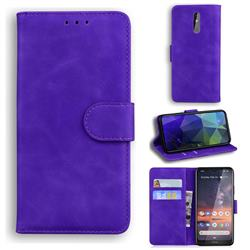 Retro Classic Skin Feel Leather Wallet Phone Case for Nokia 3.2 - Purple