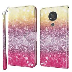 Gradient Rainbow 3D Painted Leather Wallet Case for Nokia 3.4