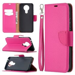 Classic Luxury Litchi Leather Phone Wallet Case for Nokia 3.4 - Rose
