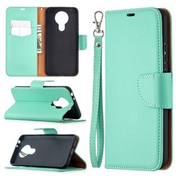 Classic Luxury Litchi Leather Phone Wallet Case for Nokia 3.4 - Green