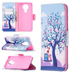 Tree and Owls Leather Wallet Case for Nokia 3.4