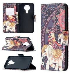Totem Flower Elephant Leather Wallet Case for Nokia 3.4