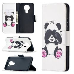 Lovely Panda Leather Wallet Case for Nokia 3.4