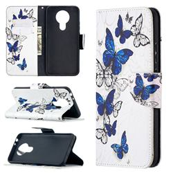 Flying Butterflies Leather Wallet Case for Nokia 3.4