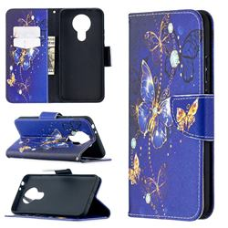 Purple Butterfly Leather Wallet Case for Nokia 3.4