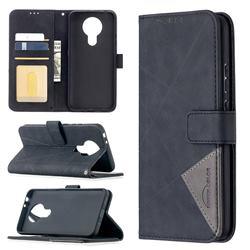 Binfen Color BF05 Prismatic Slim Wallet Flip Cover for Nokia 3.4 - Black