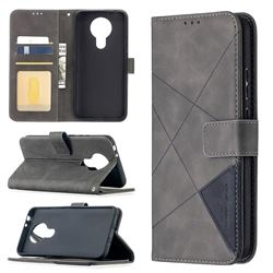 Binfen Color BF05 Prismatic Slim Wallet Flip Cover for Nokia 3.4 - Gray