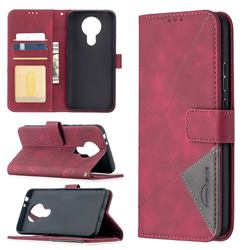 Binfen Color BF05 Prismatic Slim Wallet Flip Cover for Nokia 3.4 - Red