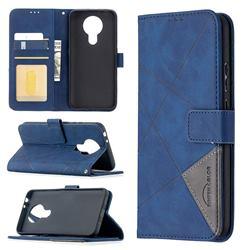 Binfen Color BF05 Prismatic Slim Wallet Flip Cover for Nokia 3.4 - Blue