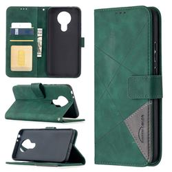 Binfen Color BF05 Prismatic Slim Wallet Flip Cover for Nokia 3.4 - Green