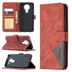 Binfen Color BF05 Prismatic Slim Wallet Flip Cover for Nokia 3.4 - Brown