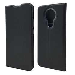Ultra Slim Card Magnetic Automatic Suction Leather Wallet Case for Nokia 3.4 - Star Grey