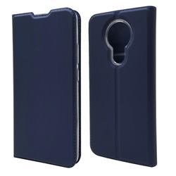 Ultra Slim Card Magnetic Automatic Suction Leather Wallet Case for Nokia 3.4 - Royal Blue