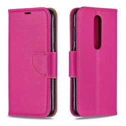 Classic Luxury Litchi Leather Phone Wallet Case for Nokia 4.2 - Rose