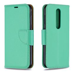 Classic Luxury Litchi Leather Phone Wallet Case for Nokia 4.2 - Green