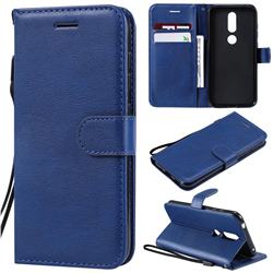 Retro Greek Classic Smooth PU Leather Wallet Phone Case for Nokia 4.2 - Blue