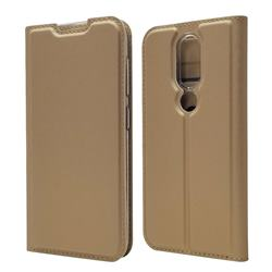 Ultra Slim Card Magnetic Automatic Suction Leather Wallet Case for Nokia 4.2 - Champagne