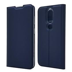 Ultra Slim Card Magnetic Automatic Suction Leather Wallet Case for Nokia 4.2 - Royal Blue