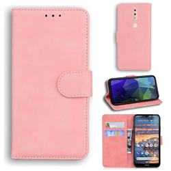 Retro Classic Skin Feel Leather Wallet Phone Case for Nokia 4.2 - Pink