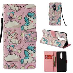 Angel Pony 3D Painted Leather Wallet Case for Nokia 5.1