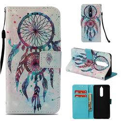 ColorDrops Wind Chimes 3D Painted Leather Wallet Case for Nokia 5.1