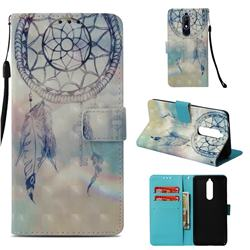 Fantasy Campanula 3D Painted Leather Wallet Case for Nokia 5.1