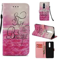 Beautiful 3D Painted Leather Wallet Case for Nokia 5.1