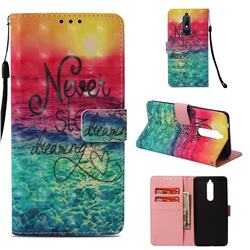 Colorful Dream Catcher 3D Painted Leather Wallet Case for Nokia 5.1