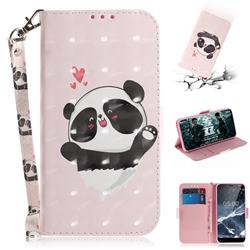Heart Cat 3D Painted Leather Wallet Phone Case for Nokia 5.1