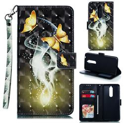 Dream Butterfly 3D Painted Leather Phone Wallet Case for Nokia 5.1