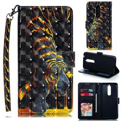 Tiger Totem 3D Painted Leather Phone Wallet Case for Nokia 5.1