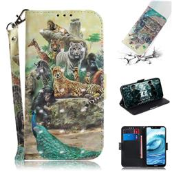 Beast Zoo 3D Painted Leather Wallet Phone Case for Nokia 5.1 Plus (Nokia X5)