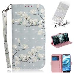 Magnolia Flower 3D Painted Leather Wallet Phone Case for Nokia 5.1 Plus (Nokia X5)