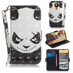 Angry Bear 3D Painted Leather Wallet Phone Case for Nokia 5.3