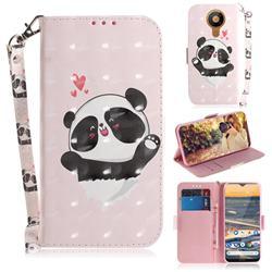Heart Cat 3D Painted Leather Wallet Phone Case for Nokia 5.3