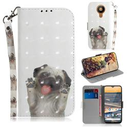 Pug Dog 3D Painted Leather Wallet Phone Case for Nokia 5.3