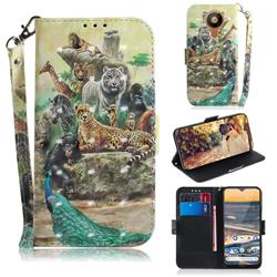 Beast Zoo 3D Painted Leather Wallet Phone Case for Nokia 5.3