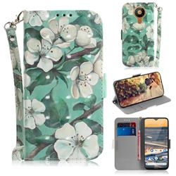 Watercolor Flower 3D Painted Leather Wallet Phone Case for Nokia 5.3